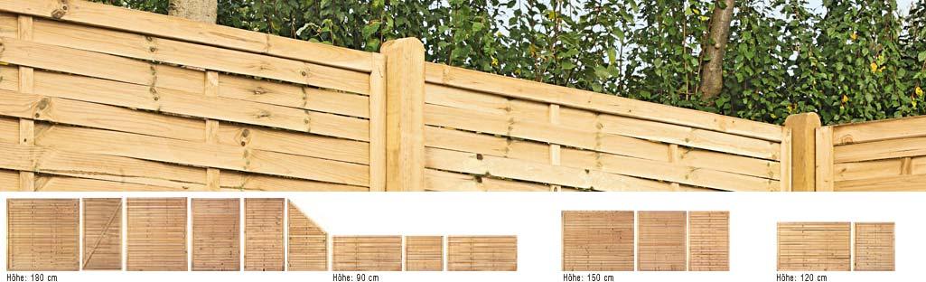 Sichtschutz Holz Lamellenzaun ~ Startseite » Sichtschutz & Zäune » Sichtschutz KDI » Lamellenzaun