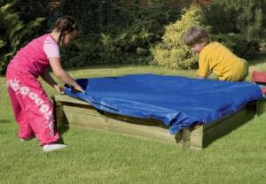 abdeckplane f r sandkasten dani pe gewebe 160 g m blau. Black Bedroom Furniture Sets. Home Design Ideas