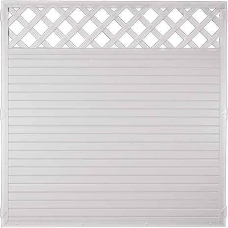Kunststoff Zaun Ranki 180 x 180 cm weiß